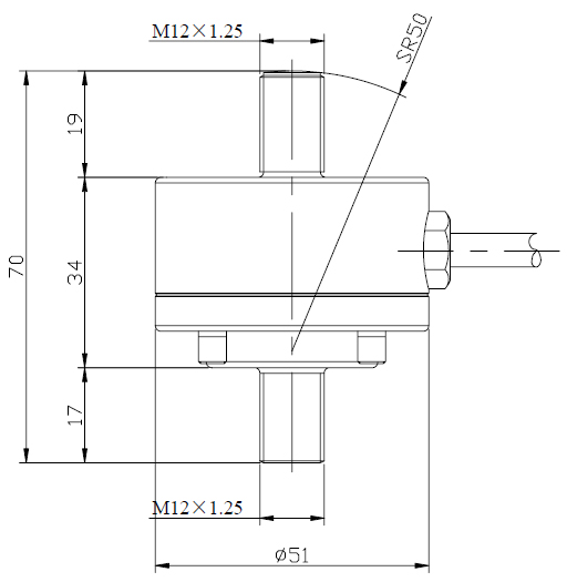 Crane type load cell